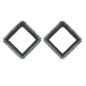 Quirky Bohemian Rhombus Stud Earrings Main Image