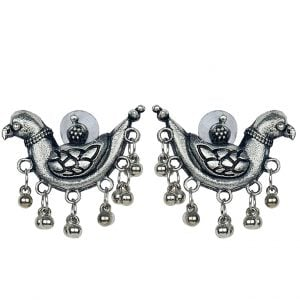 Quirky Parrot Motif Stud Earrings Main Image