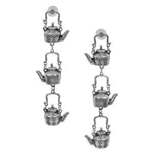 Boho Oxidised Silver Ketli/Kettle Earrings Main Image