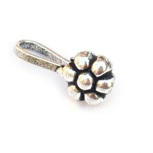 Silver Clip On Nose Pin – Flower Main Image