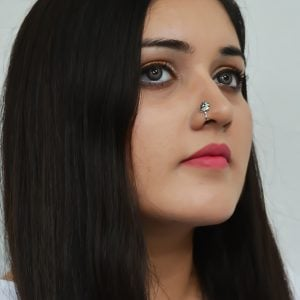 Silver Clip On Nose Pin – Petal Lifestyle Image