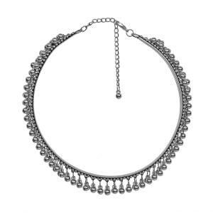 Boho Tribal Oxidised Silver Choker Hasli Necklace Main Image
