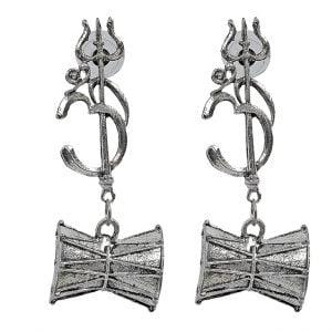 Om Trishul Stud EarringsOm Trishul Stud Earrings Main Image