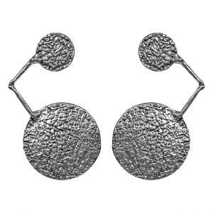 Statement Silver Stud Earrings Main Image