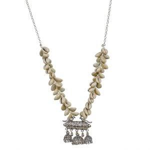 Boho Aesthetic Clustered Shell Necklace Main Image