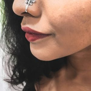 Silver Clip On Nose Pin – Butterfly Lifestyle Image