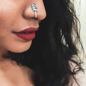 Silver Clip On Nose Pin – Elephant Lifestyle Image