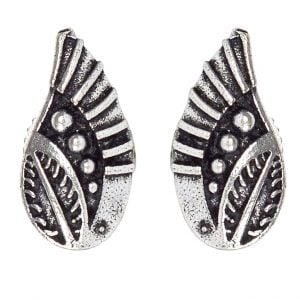 Silver Plated Small Stud Earrings- Wings Main Image