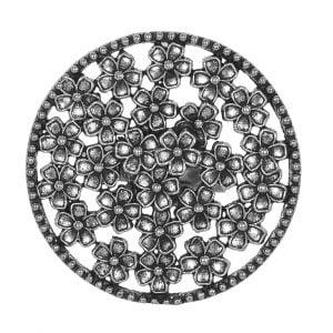 Oxidised Silver Floret Ring – Adjustable Main Image