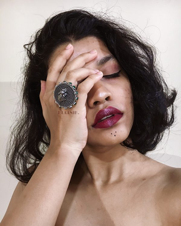 Gajan Handcrafted Brass Ring – Adjustable Lifestyle Image