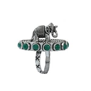 Gajan Handcrafted Brass Ring – Adjustable Main Image