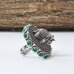 Gajan Handcrafted Brass Ring – Adjustable