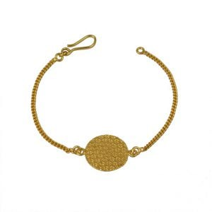 Gold Matte Plated Dainty Chain Bracelet Main Image