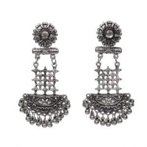 Oxidised Silver Hanging Earrings Main Image