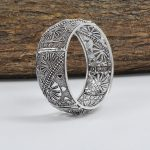 Silver Plated Brass Bangle – Adjustable