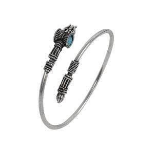 Blue Stone Moksha Kada Bangle – Adjustable Main Image