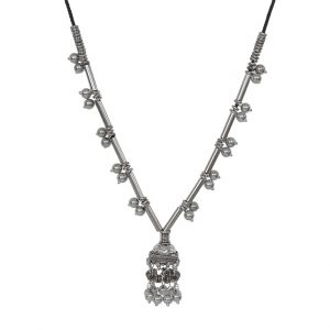 Bohemian Brass Silver Oxidised Necklace Main Image