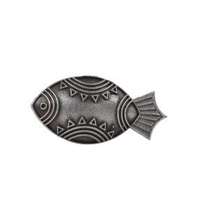 Handcrafted Brass Silver Lookalike Matasya Ring – Adjustable Main Image