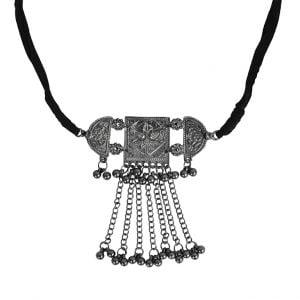 Oxidised Silver Choker Necklace Main image