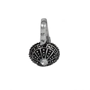 Oxidised Silver Clip On Nose Pin – Dome Main Image