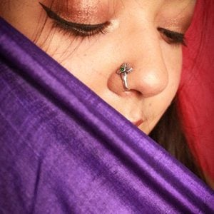 Oxidised Silver Clip On Nose Pin – Petals Lifestyle Image