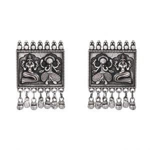 Silver Lookalike Brass Stud Earrings Main Image