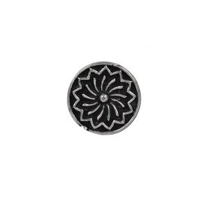 Silver Patterned Round Wired Nose Pin for Pierced Nose Main Image