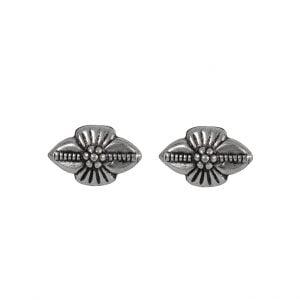 Silver Plated Small Stud Earrings- Bud Main Image