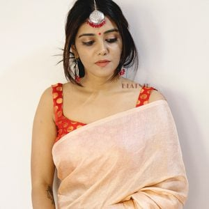 Festive Traditional Maang Tika Earrings Set – Red Beads Lifestyle Image