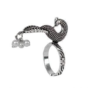Oxidised Silver Morni Ring – Adjustable Main Image