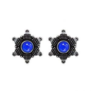 Oxidised Silver Small Stud Earrings Main Image