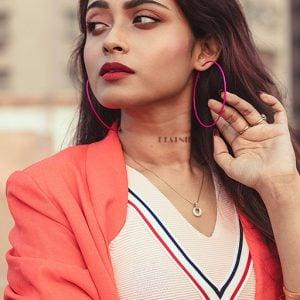Pink Hoop Earrings Lifestyle Image