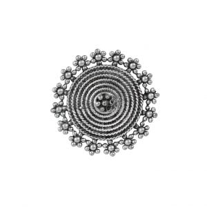 Silver Lookalike Brass Adjustable Ring – Roza Main Image