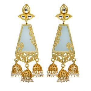 Traditional Kundan Royal Jhumki Hanging Earrings Main Image
