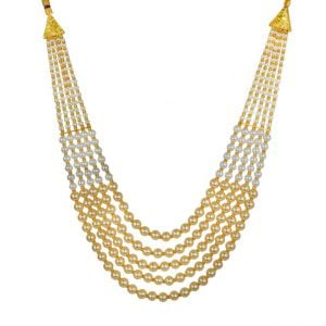 Traditional Layered Golden Beads Mala Necklace Main Image