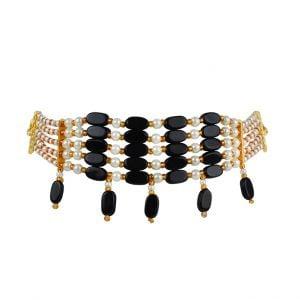 Ethnic Traditional Black Beads Choker Main Image