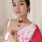 Ethnic Traditional Red White Beads Choker
