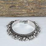 Oxidised Silver Ghungroo Bangle – Adjustable