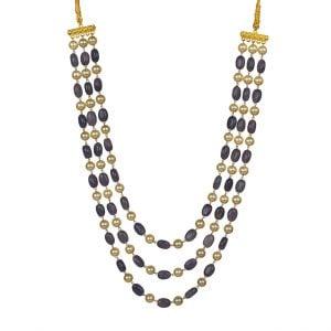 Traditional Layered Glass Beads Mala Necklace Main Image