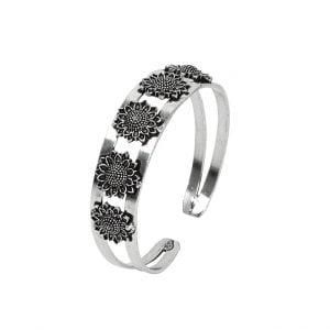 Oxidised Silver Adjustable Kada Bangle Main Image