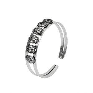 Oxidised Silver Jaali Motif Adjustable Kada Bangle Main Image