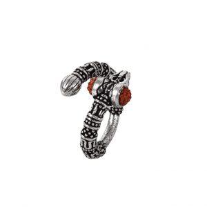 Oxidised Silver Moksha Rudra Ring – Adjustable Main Image