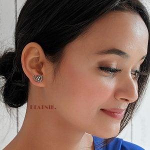 Oxidised Silver Small Stud Earrings – Twisted Lifestyle Image