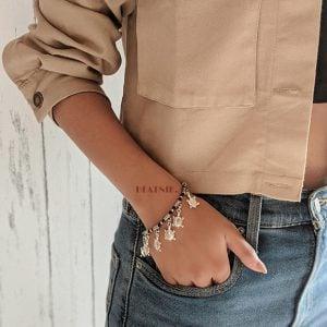 Oxidised Silver Turtle Motif Charms Bracelet Lifestyle Image