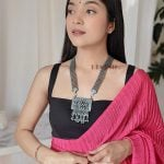 Oxidised Silver Tribal Long Necklace
