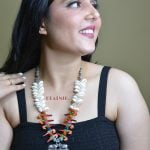 Oxidised Silver Shell Motifs Quirky Long Necklace