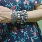 silver-lookalike-brass-oxidised-boho-round-bangle-adjustable-1