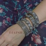 silver-lookalike-brass-oxidised-boho-round-bangle-adjustable-10