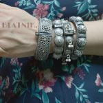 silver-lookalike-brass-oxidised-boho-round-bangle-adjustable-12