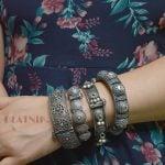 silver-lookalike-brass-oxidised-boho-round-bangle-adjustable-3